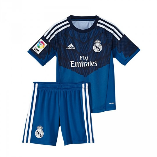 Conjunto  adidas Jr Portero Real Madrid Lone blue-Dark indigo