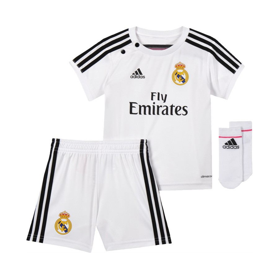 be8859476f7 Conjunto adidas Bebe Real Madrid Home Blanco-Blast pink - Tienda de fútbol  Fútbol Emotion