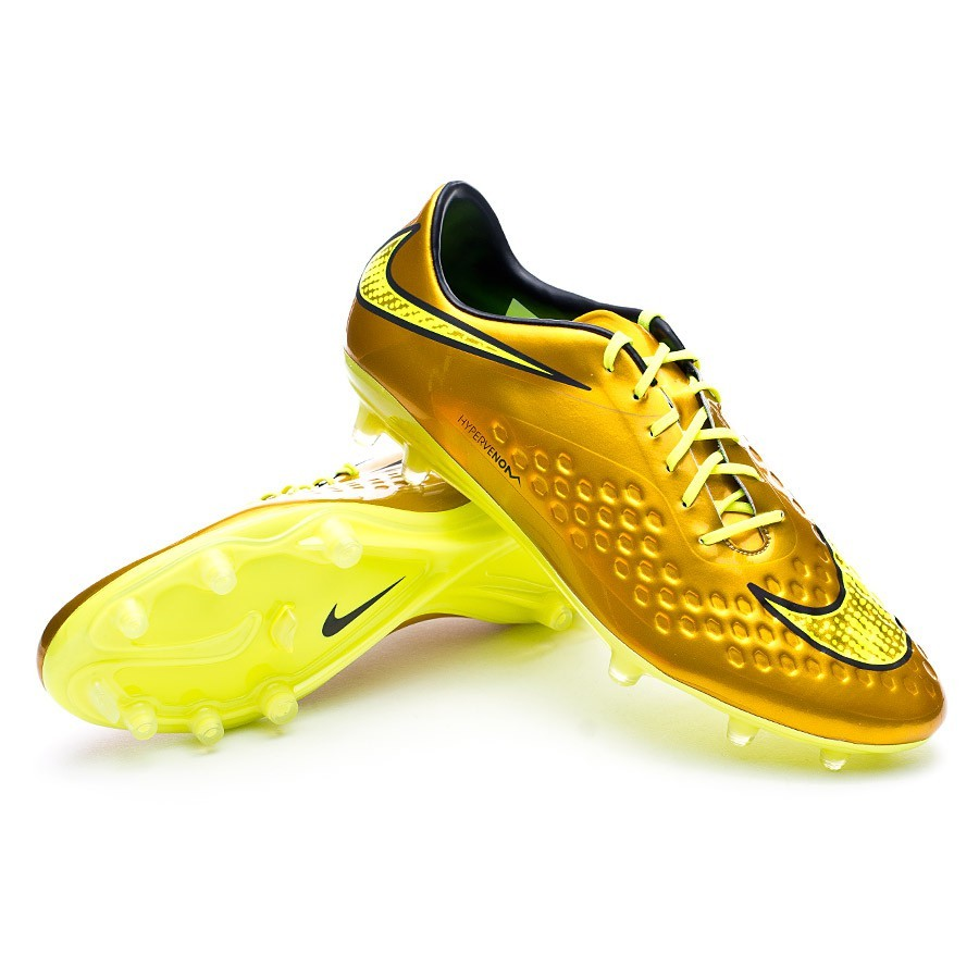 58051537e Football Boots Nike Hypervenom Phatal Premium FG Metallic gold ...