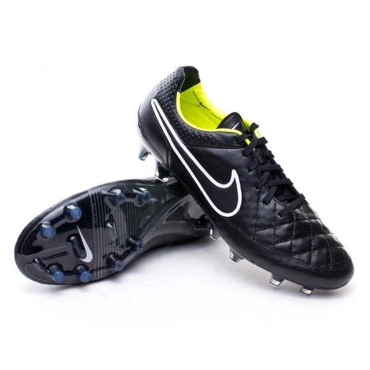 new concept bdd2f 173be Football Boots Nike Tiempo Legend V FG ACC Black-Volt - Tienda de ...