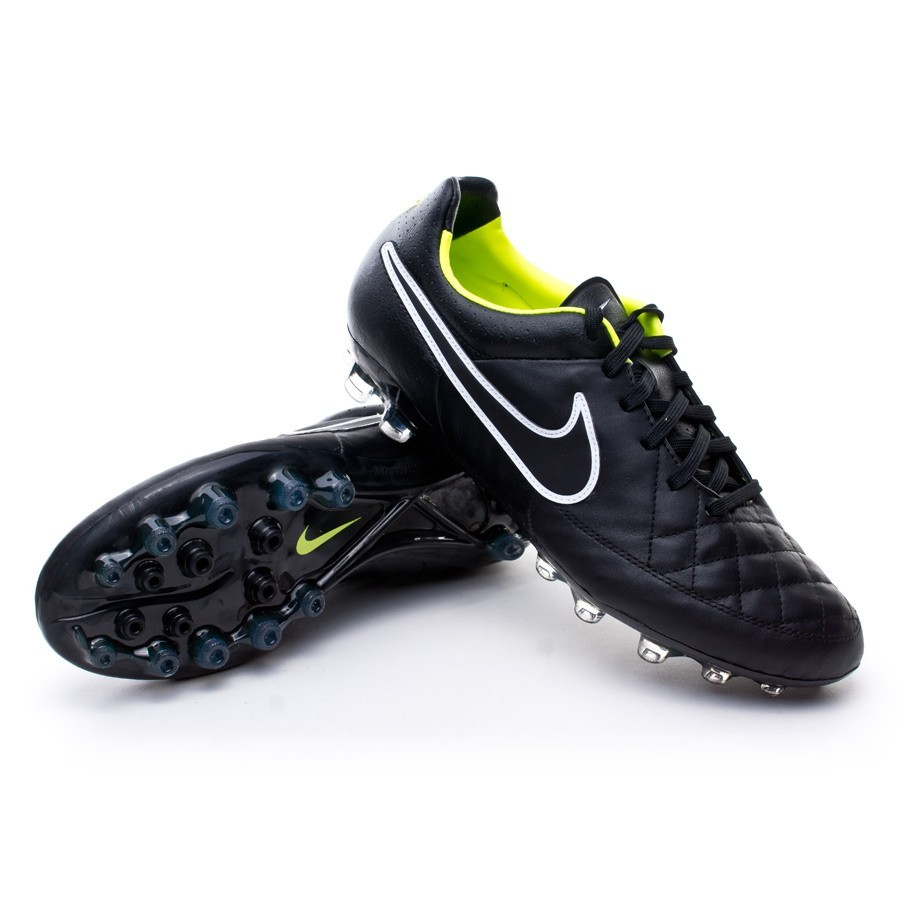 the best attitude 07adc f10c5 Boot Nike Tiempo Legacy AG Black-Volt - Football store Fútbol Emotion