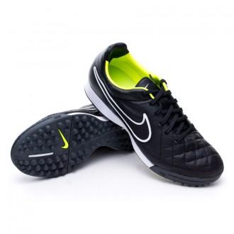 Chuteira  Nike Tiempo Legacy Turf Preto-Volt