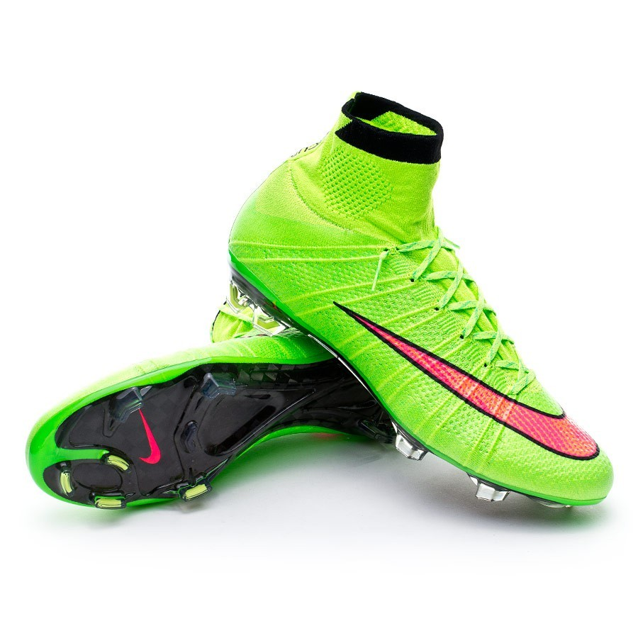 online store dccfa f2fc0 Football Boots Nike Mercurial Superfly FG ACC Electric green-Hyper punch -  Football store Fútbol Emotion