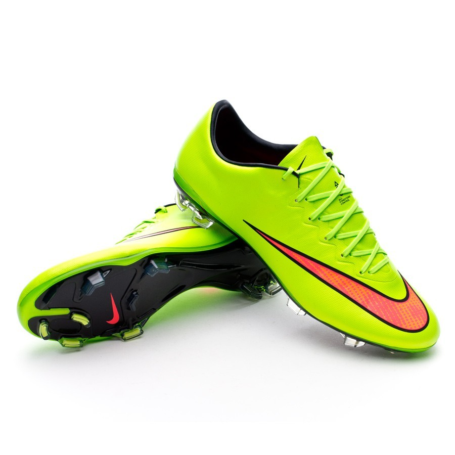 boot nike mercurial vapor x fg acc electric green hyper. Black Bedroom Furniture Sets. Home Design Ideas