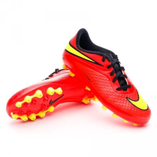 Bota  Nike Jr Hypervenom Phelon AG Bright crimson-Volt