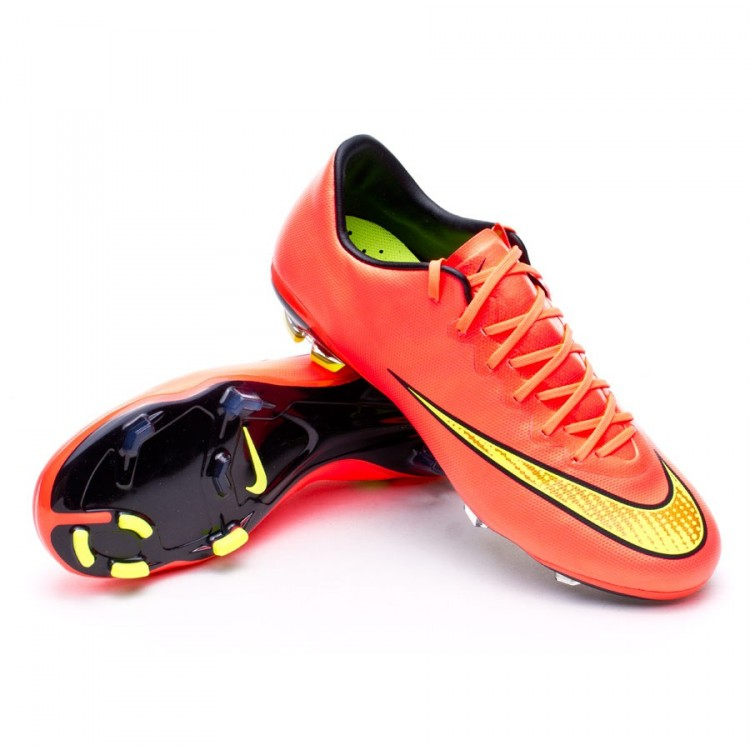 premium selection 01c3d 1ed0b Football Boots Nike Kids Mercurial Vapor X FG Hyper punch-Gold ...