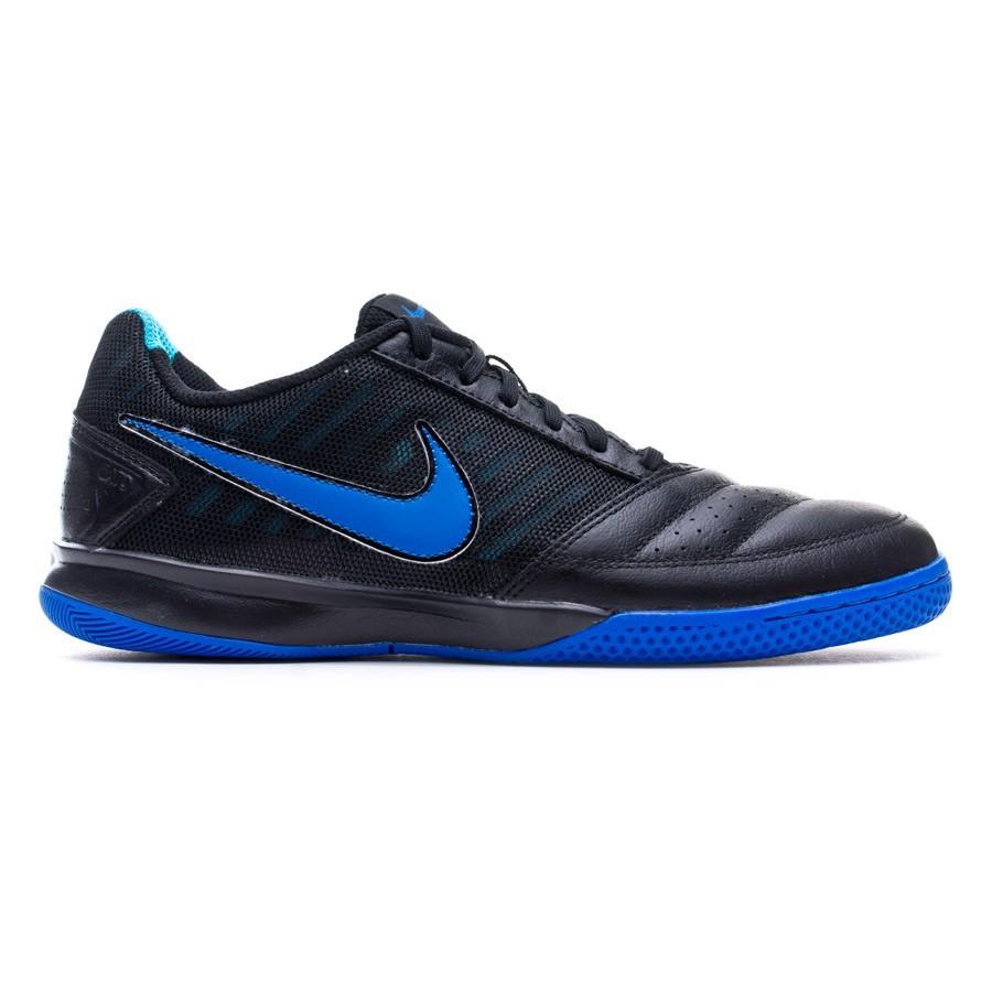 sports shoes 6c2c3 bed5d Futsal Boot Nike Gato II Black-Hyper cobalt - Football store Fútbol Emotion