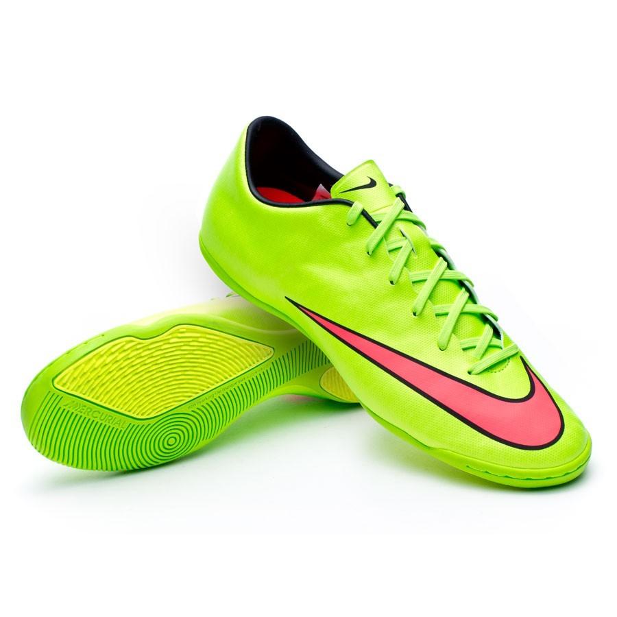 Sapatilha de Futsal Nike Mercurial Victory V IC Electric green-Hyper punch  - Loja de futebol Fútbol Emotion 9ac313fe74229