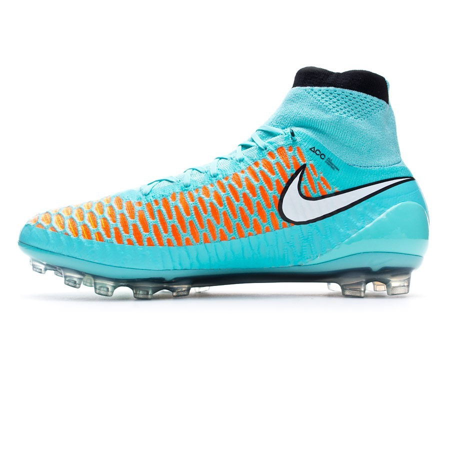 461cebf9e254 Football Boots Nike Magista Obra AG ACC Hyper turquoise-White-Laser orange  - Football store Fútbol Emotion