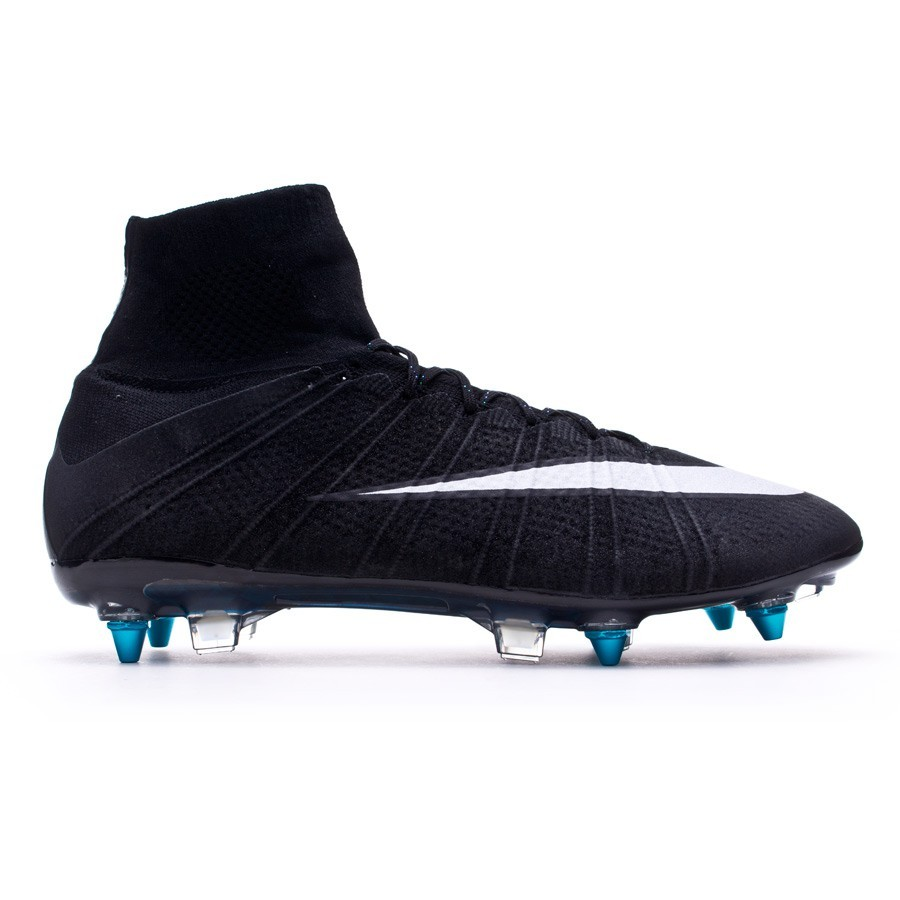 cheaper 99314 f248a Football Boots Nike Mercurial Superfly SG-Pro ACC CR Black-White-Hyper  turquoise - Football store Fútbol Emotion