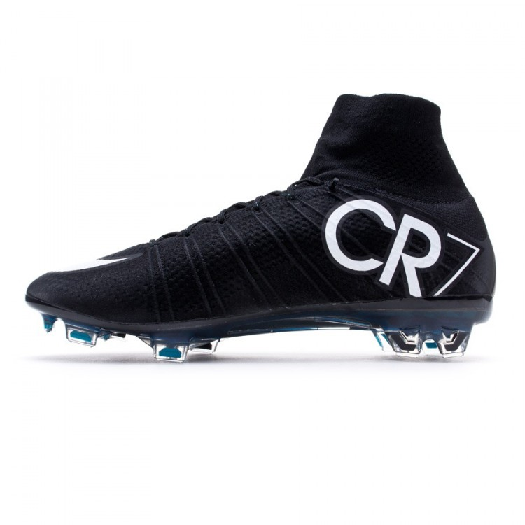 outlet store eb2f6 e87b7 Bota Mercurial Superfly CR FG ACC Negra-Blanca-Hyper turquoise