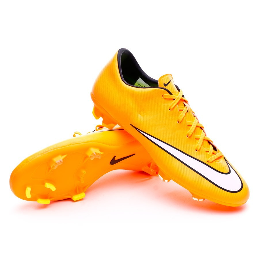 Boot Nike Mercurial Victory V FG Laser orange-White-Volt - Football ... e93345f5fed6