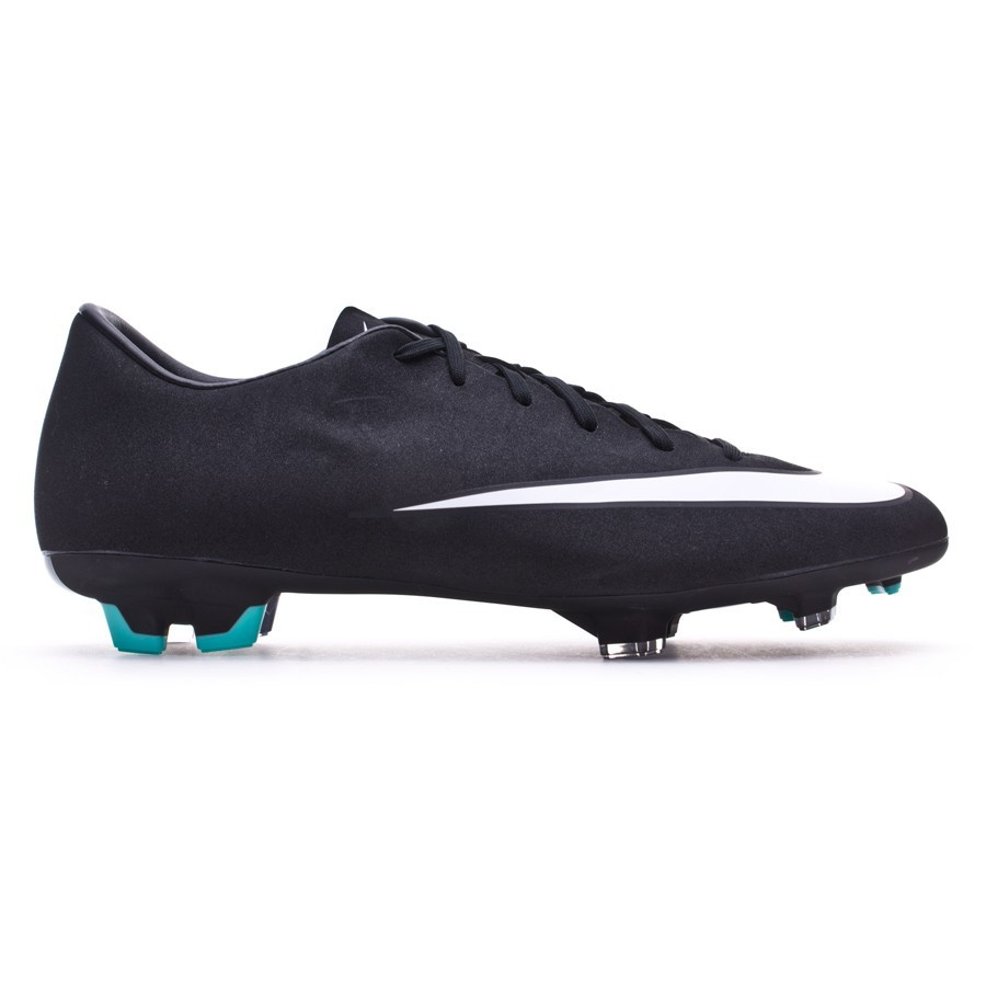 new product 94562 da1b8 Football Boots Nike Mercurial Victory V FG CR Black-White-Hyper turquoise -  Football store Fútbol Emotion