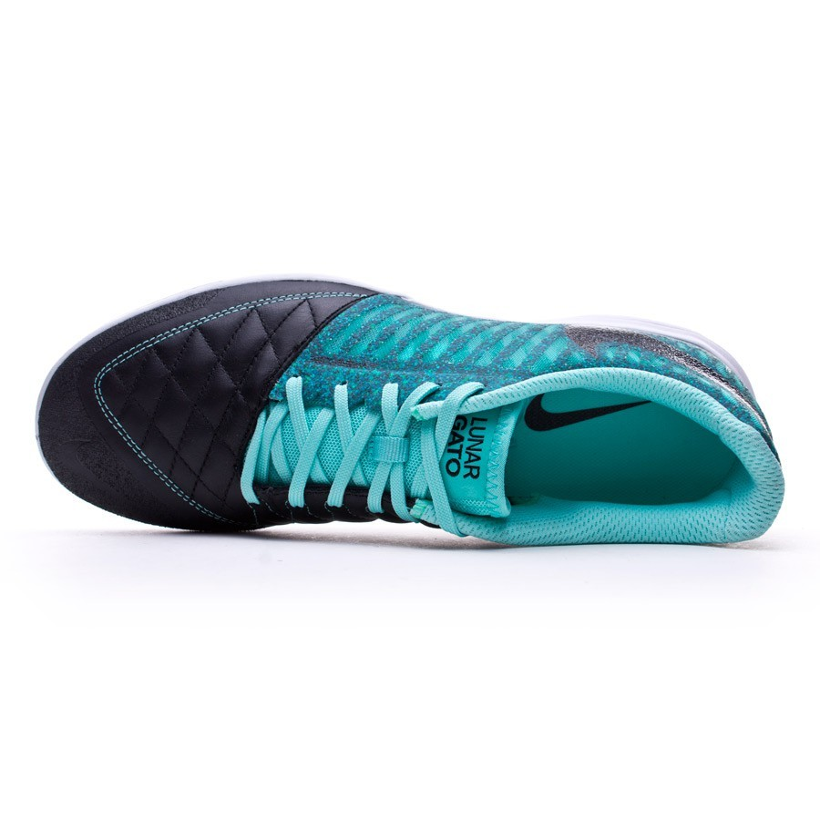 2d4c054dc1ff6 Sapatilha de Futsal Nike Lunar Gato II Black-Hyper turquoise - Loja de  futebol Fútbol Emotion