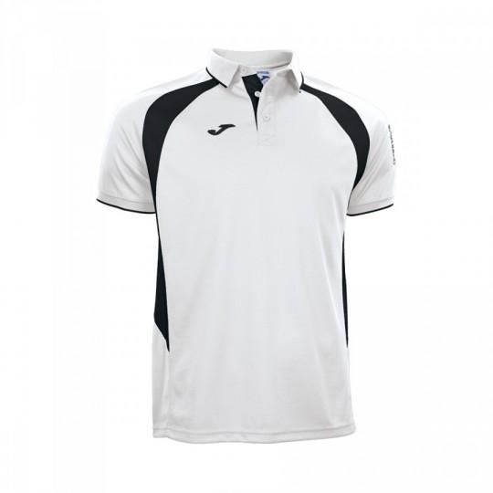 Polo  Joma Champion III m/c Blanco-Negro