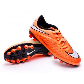 Chuteira  Nike Jr Hypervenom Phelon AG Hyper punch-White-Atomic orange