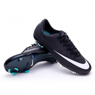 Kids Mercurial Vapor X FG CR Black-White-Hyper turquoise