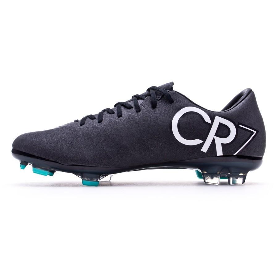 Boot Nike Kids Mercurial Vapor X FG CR Black-White-Hyper turquoise ... 16d969921fd25