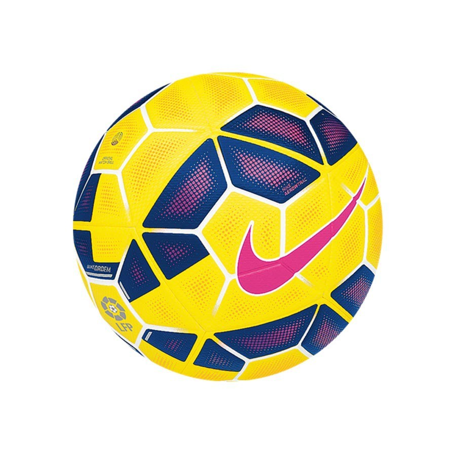 Ball Nike Ordem 2 LFP Hi-Vis Yellow-Blue - Football store Fútbol Emotion c89bbdadefd82