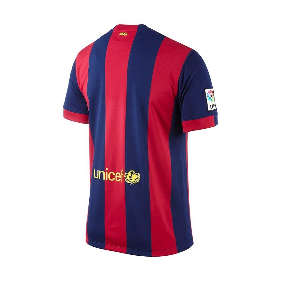 4880804d95000 Playera Nike Jugador FC Barcelona Primera Equipación 2014-2015 Azul-Granate  - Tienda de fútbol Fútbol Emotion