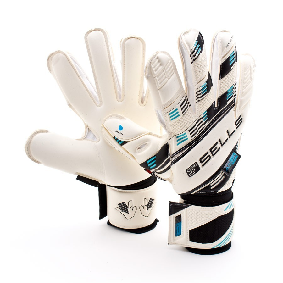 b0221846a2aa Glove Sells Elite Aqua White-Black-Blue - Football store Fútbol Emotion