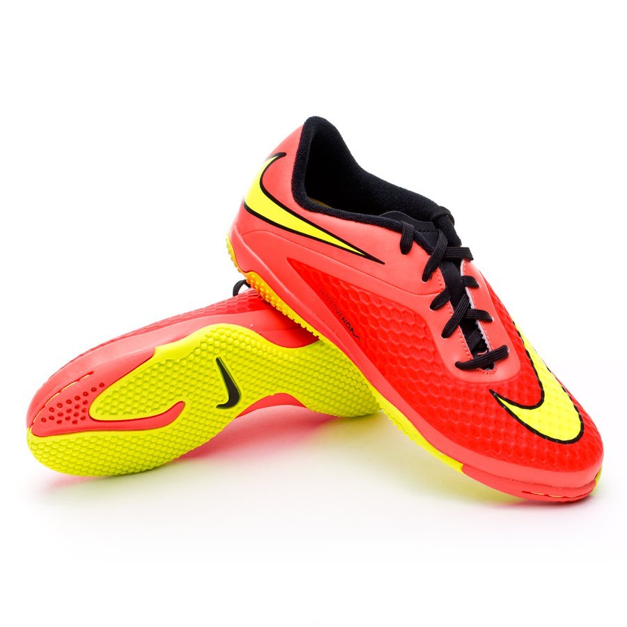 2bd43fcb957f Futsal Boot Nike Jr Hypervenom Phelon IC Bright crimson-Volt ...