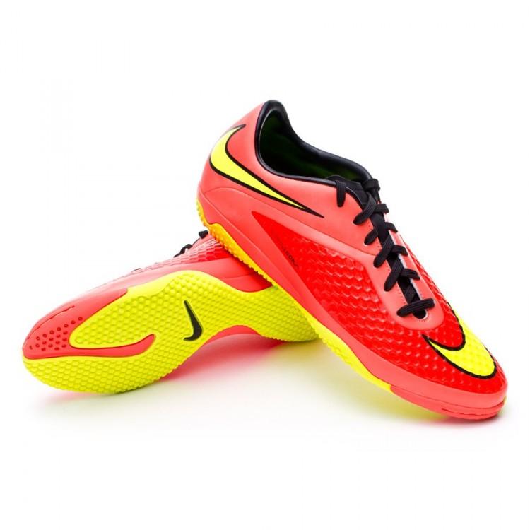 63ecc159844 Futsal Boot Nike Hypervenom Phelon IC Bright crimson-Volt - Football ...