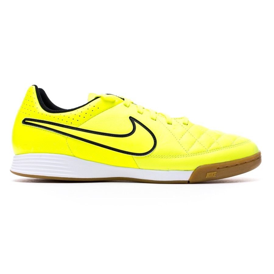 f76a290755c Futsal Boot Nike Jr Tiempo Genio Leather IC Volt-Hyper punch - Football  store Fútbol Emotion