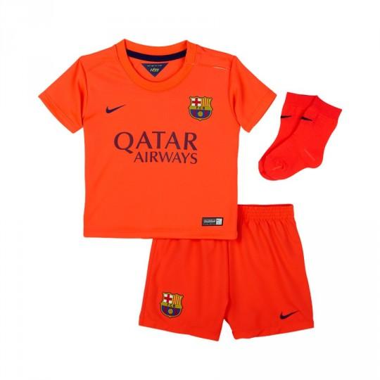 Conjunto  Nike Bebe FC Barcelona Away 2014-2015 Rojo Fluor