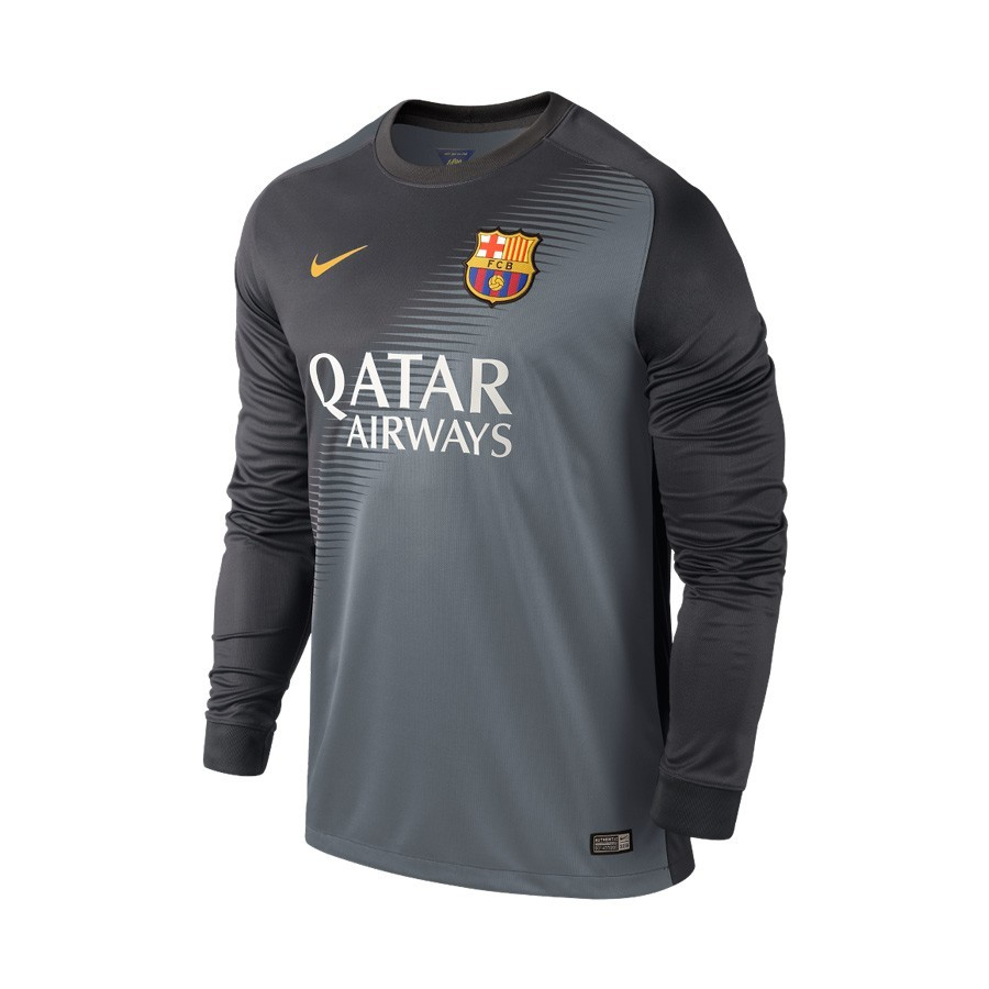 484864da04 Camiseta Nike Portero FC Barcelona 2014-2015 Gris Plomo - Soloporteros es  ahora Fútbol Emotion