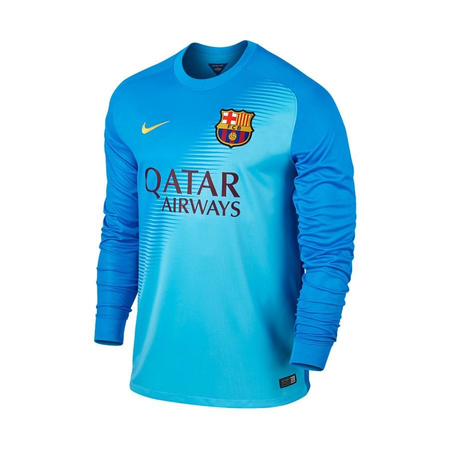 37b09587f Camiseta Nike Portero FC Barcelona 14-15 Azul - Tienda de fútbol Fútbol  Emotion