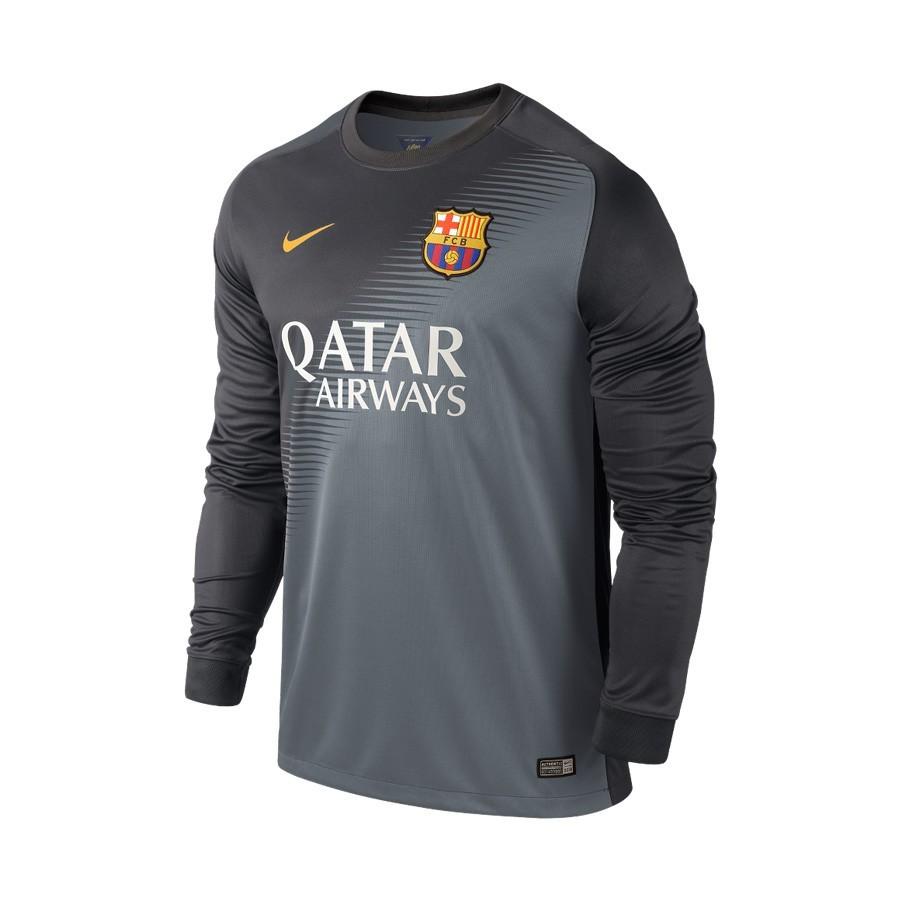 Camiseta Nike Portero FC Barcelona 14-15 Niño Gris - Soloporteros es ahora  Fútbol Emotion 7f79b565e7955