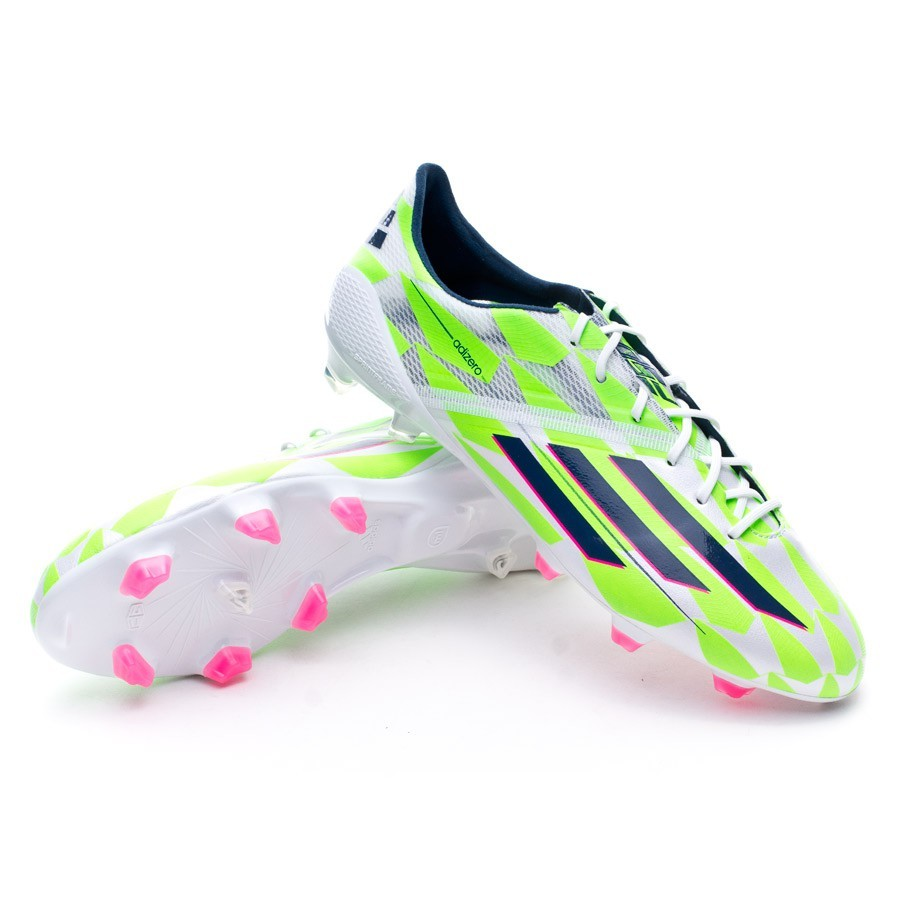 d09e17d321d adidas adizero F50 TRX FG Football Boots. Core white-Rich blue-Solar green  ...