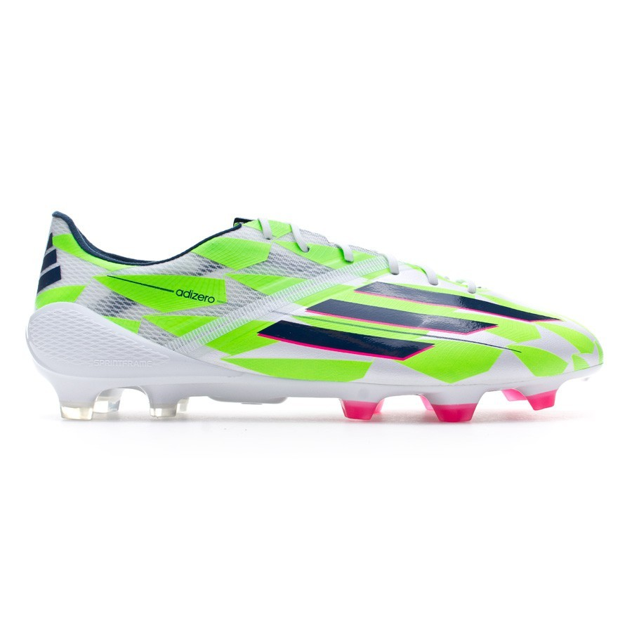 695f245b6 Football Boots adidas adizero F50 TRX FG Core white-Rich blue-Solar green - Football  store Fútbol Emotion