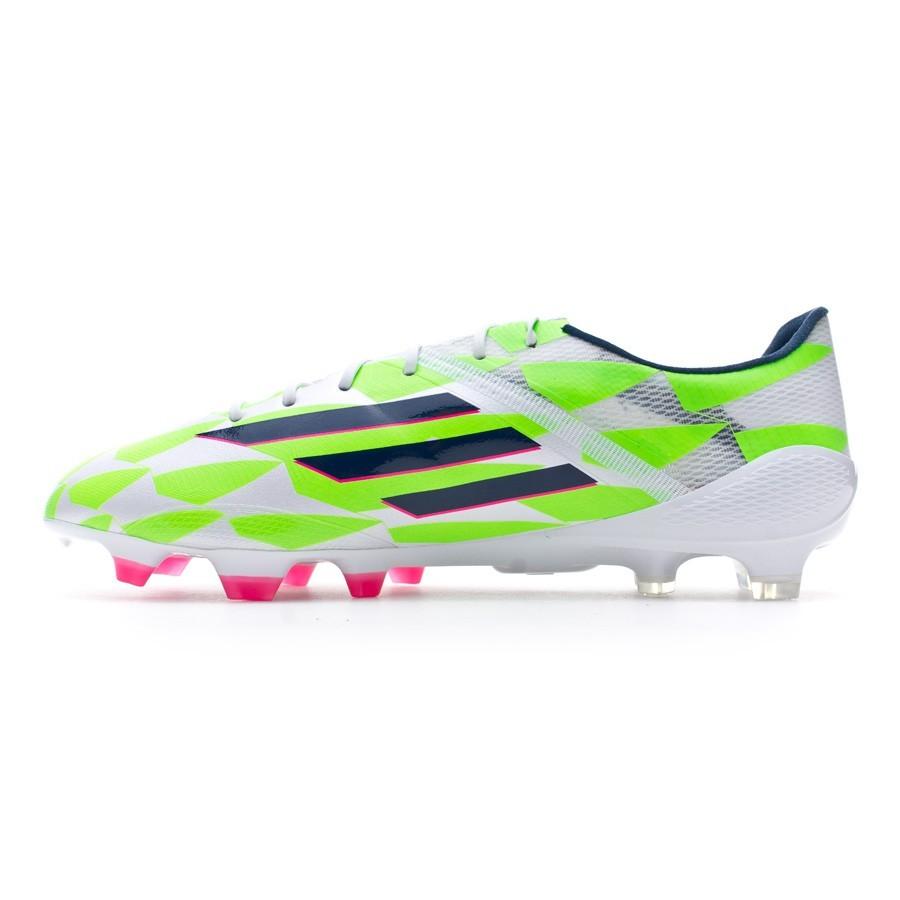 d681ccc78 Football Boots adidas adizero F50 TRX FG Core white-Rich blue-Solar green -  Football store Fútbol Emotion