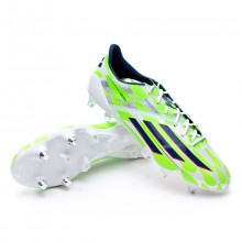 adizero F50 XTRX SG Core white-Rich blue-Solar green