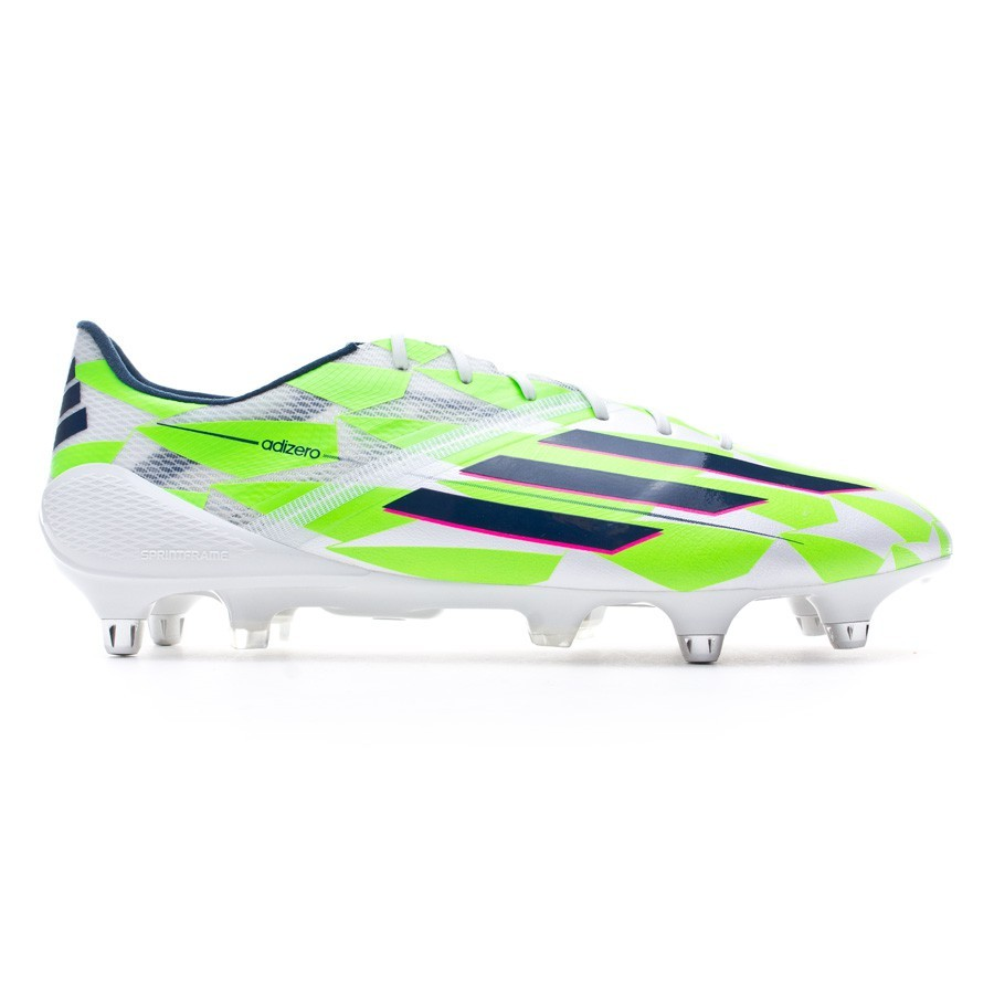 75e24ef8915 Football Boots adidas adizero F50 XTRX SG Core white-Rich blue-Solar green  - Football store Fútbol Emotion