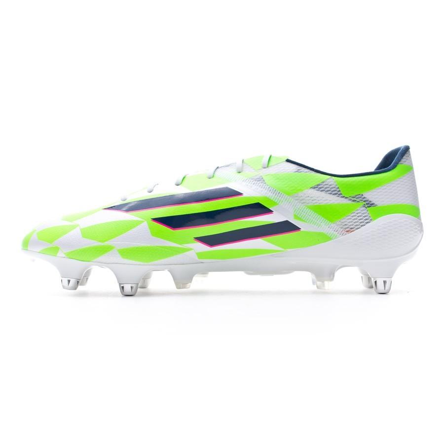 451cdae15da Boot adidas adizero F50 XTRX SG Core white-Rich blue-Solar green -  Soloporteros es ahora Fútbol Emotion