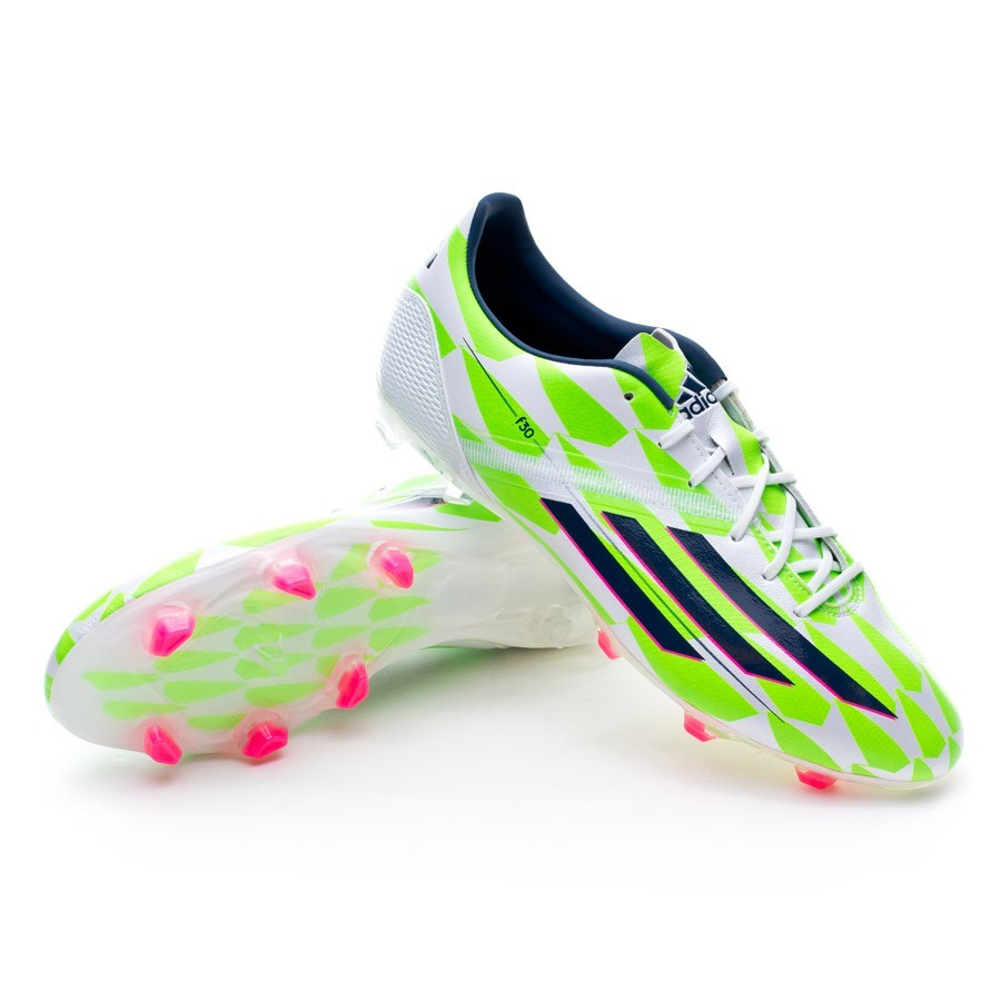 info for 4db72 9ce96 Boot adidas F30 TRX FG Core white-Rich blue-Solar green .