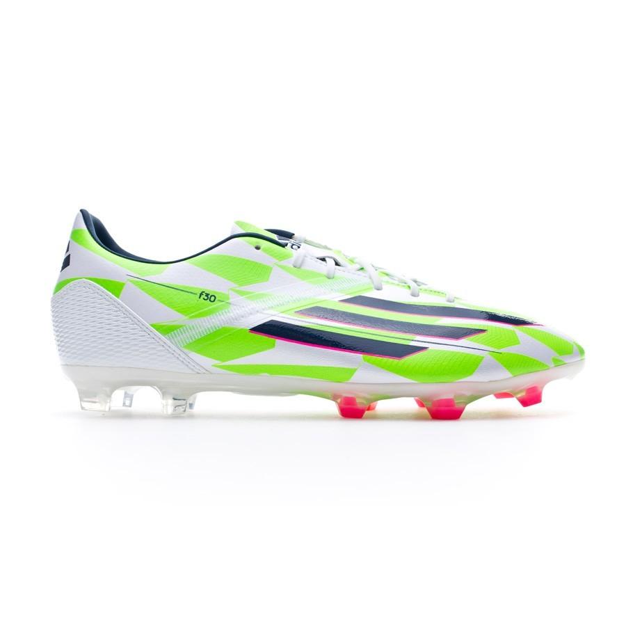 37b51329c Football Boots adidas F30 TRX FG Core white-Rich blue-Solar green - Football  store Fútbol Emotion