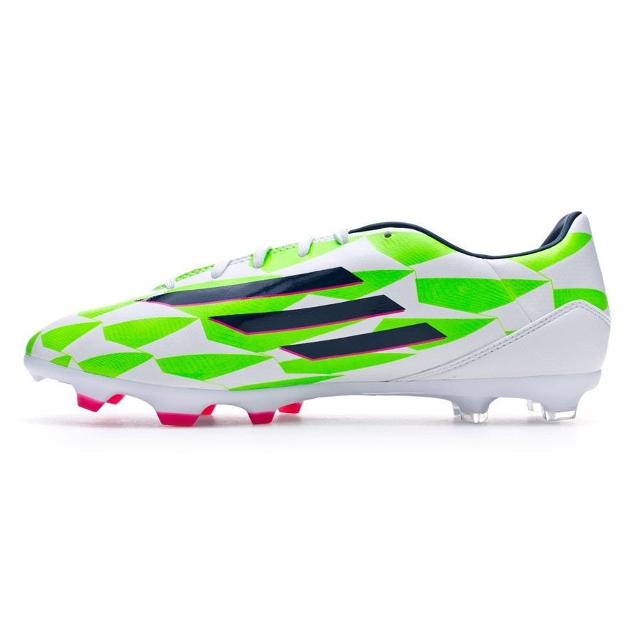 02b2c54efb9 Football Boots adidas F10 TRX FG Core white-Rich blue-Solar green -  Football store Fútbol Emotion