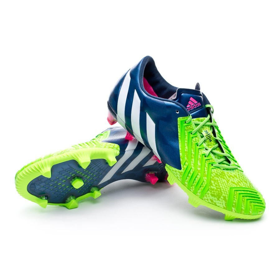 newest collection bc82d 25a31 adidas Predator Instinct TRX FG Football Boots. Rich blue-White-Solar green  ...