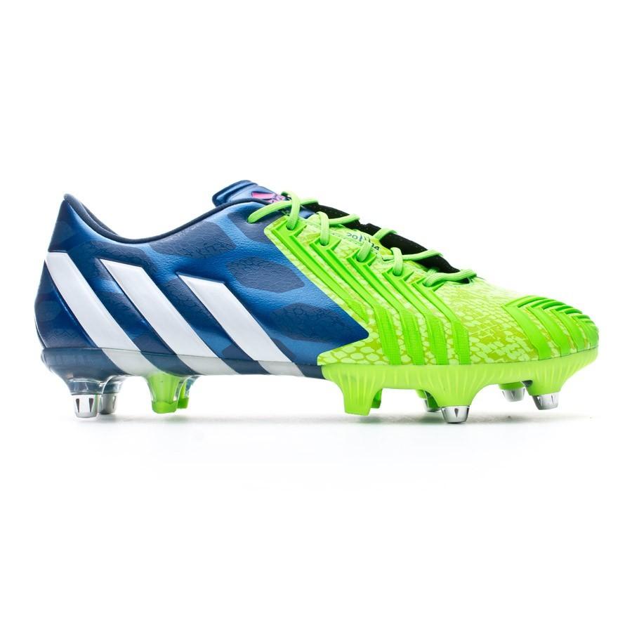 a8b33ee8006f Football Boots adidas Predator Instinct XTRX SG Rich blue-White-Solar green  - Football store Fútbol Emotion