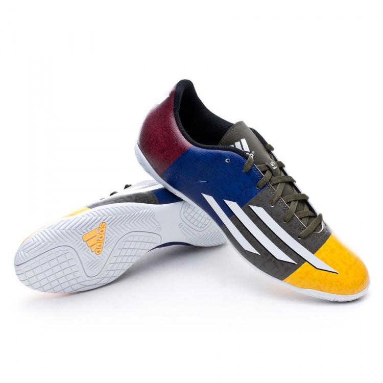 Adidas F5 Messi chaussure de futsal adidas f5 in messi solar gold-earth green