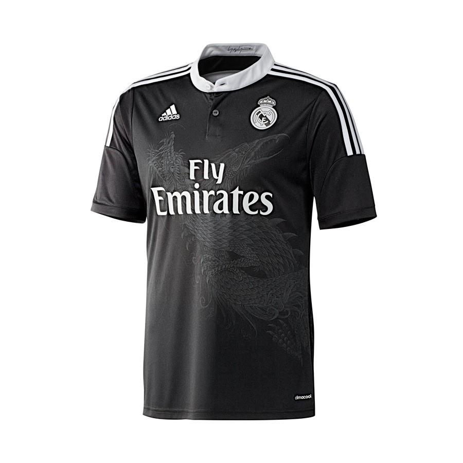 66b86b88b3e78 Camiseta adidas Real Madrid Tercera Equipación 2014-2015 Negra - Tienda de  fútbol Fútbol Emotion