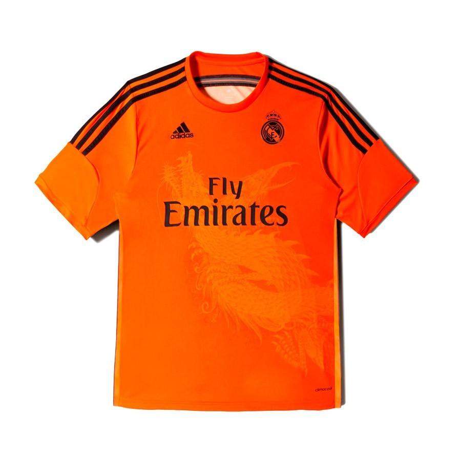13f9ee893 Jersey adidas Portero Real Madrid 3ª 2014-2015 Orange - Football ...