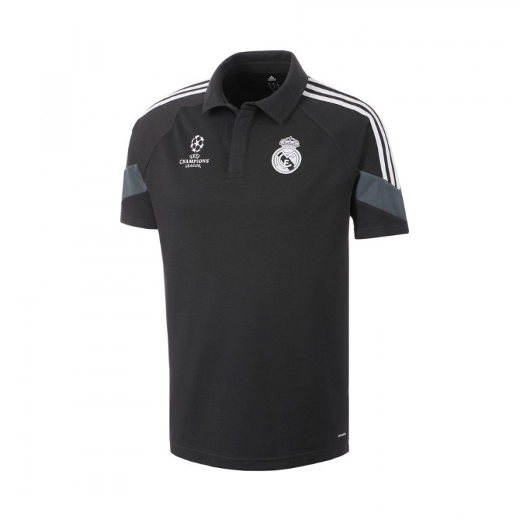 ba91a1c49 Polo shirt adidas Real Madrid 2014-2015 3rd kit Black - Football ...