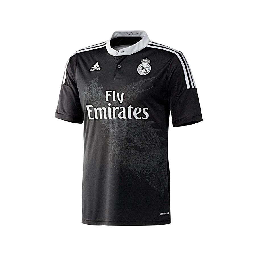 547cdd260b497 Camisola adidas Jr Real Madrid 3ª 2014-2015 Preto - Loja de futebol Fútbol  Emotion