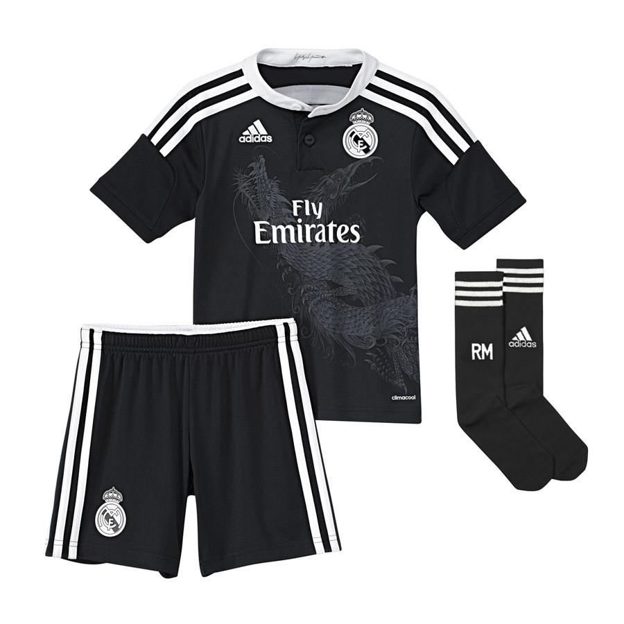 166c7ea29 Kit adidas Jr Real Madrid 3ª 2014-2015 Black - Football store Fútbol ...