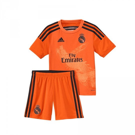 Tenue  adidas Jr Gardien Real Madrid 3ª 2014-2015 Orange